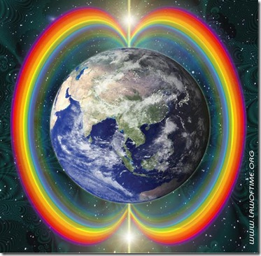 arco iris y Tierra