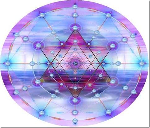 hexagrama y luz violeta